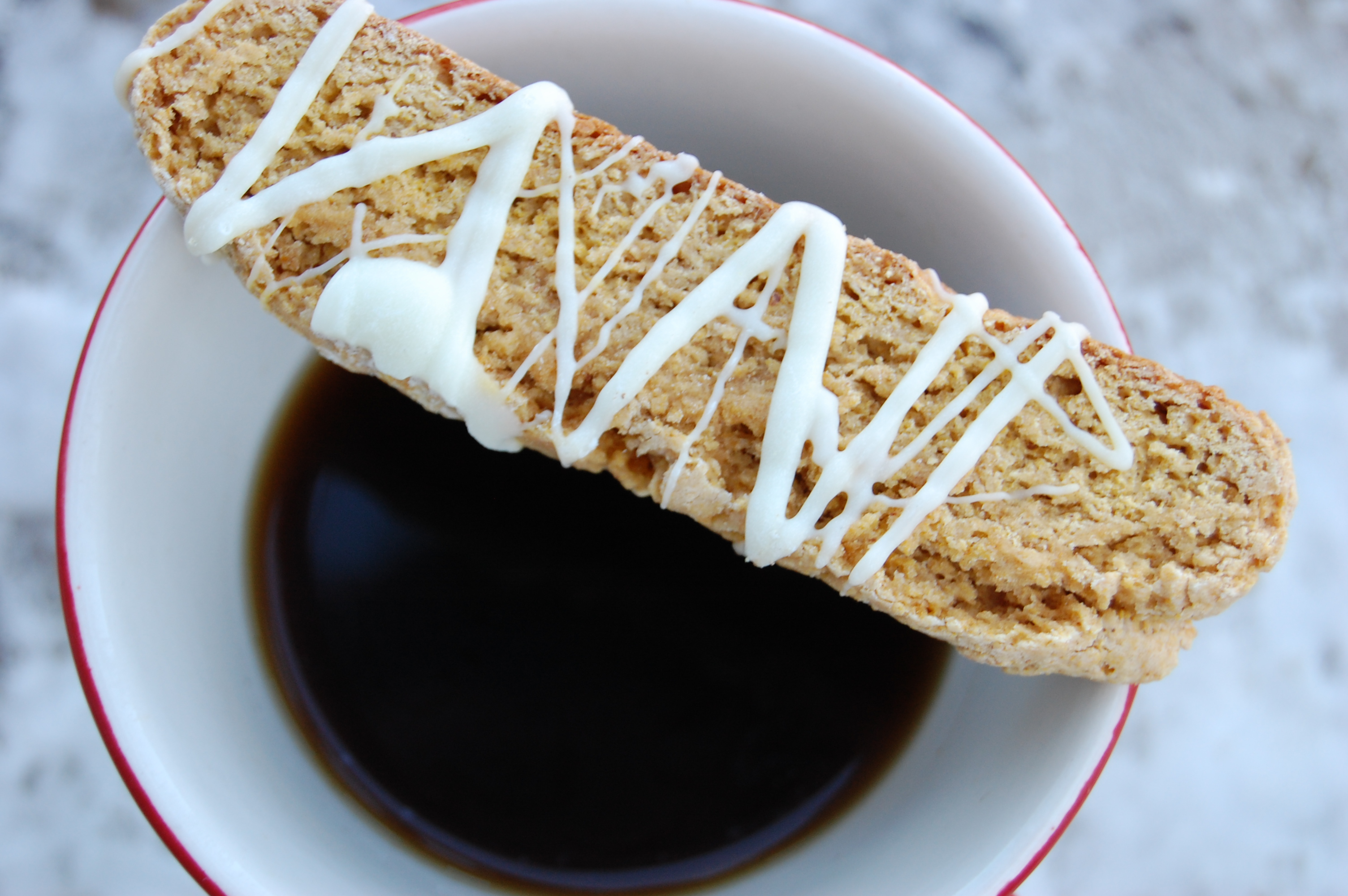 Pumpkin Hazelnut White Chocolate Biscotti Recipe — Dishmaps