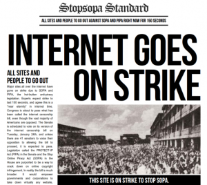 Strike Against SOPA and PIPA