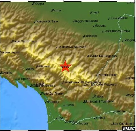 earthquake italy parma