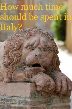 time spent italy travel