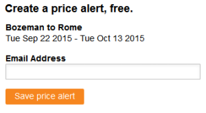 price alert